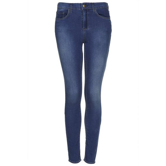 TOPSHOP MOTO Vintage Wash Leigh Jeans (57 BRL) ❤ liked on Polyvore featuring jeans, pants, bottoms, topshop, trousers, mid stone, super skinny jeans, blue skinny jeans, checkered skinny jeans and super skinny ankle jeans