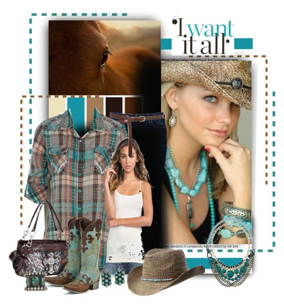 """""""western, southwest or Cowboy/Cowgirl Style"""" by emcf3548 ❤ liked on Polyvore featuring Anna Sui, Wrangler, Full Tilt, Oasis, Athleta, White House Black Market and Proenza Schouler"""
