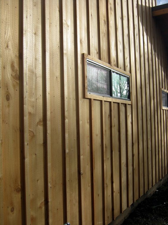 Board and batten siding tiny house ideas pinterest for Types of wood siding for homes