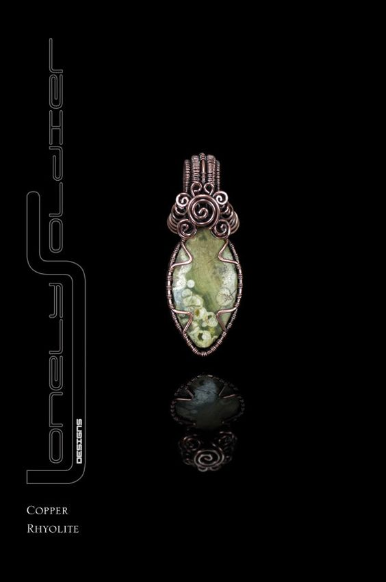 Rhyolite Something Simple Collection pendant by by MinervaBeadsUK