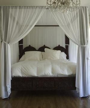 Handcarved Indian Triple Arch Canopy Bed | Canopy, Romantic and ...