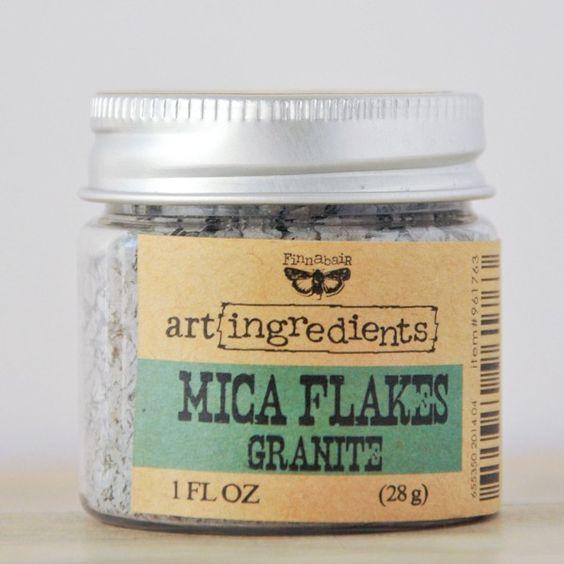 Art Ingredients - Finnabair Mica Flakes - Granite