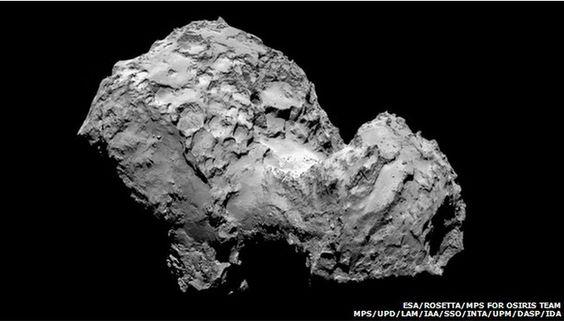 lumpy comet