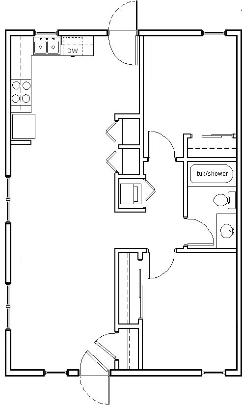 840 square feet 2 bedroom flat with attic storage for 840 square feet