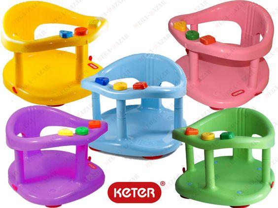 Baby Bathtub Ring Seat Bath Tub by KETE - New Infant Safety Anti Slip Bath Ring #Keter$14 plus $12/shipping