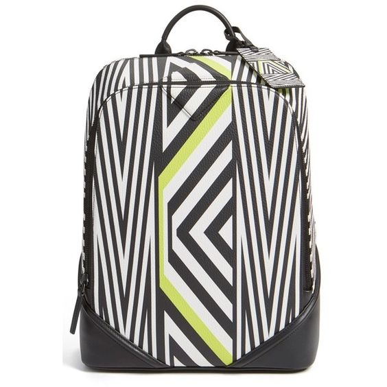 MCMxTobias Rehberger 'Medium' Geometric Coated Canvas Backpack (11 795 SEK) ❤ liked on Polyvore featuring bags, backpacks, lime green, laptop rucksack, mcm, lime green backpack, backpacks bags and mcm bags
