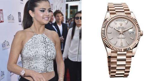 Selena Gomez with Rolex Day-Date