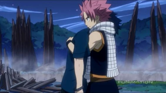 Fairy tail, IS IT JUST ME OR IS NATSU REALLY HOLDING GREY??