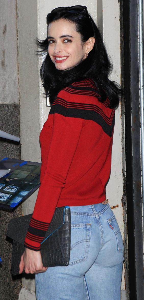 Little does Krysten Ritter know, but her apple bottom jeans have ...