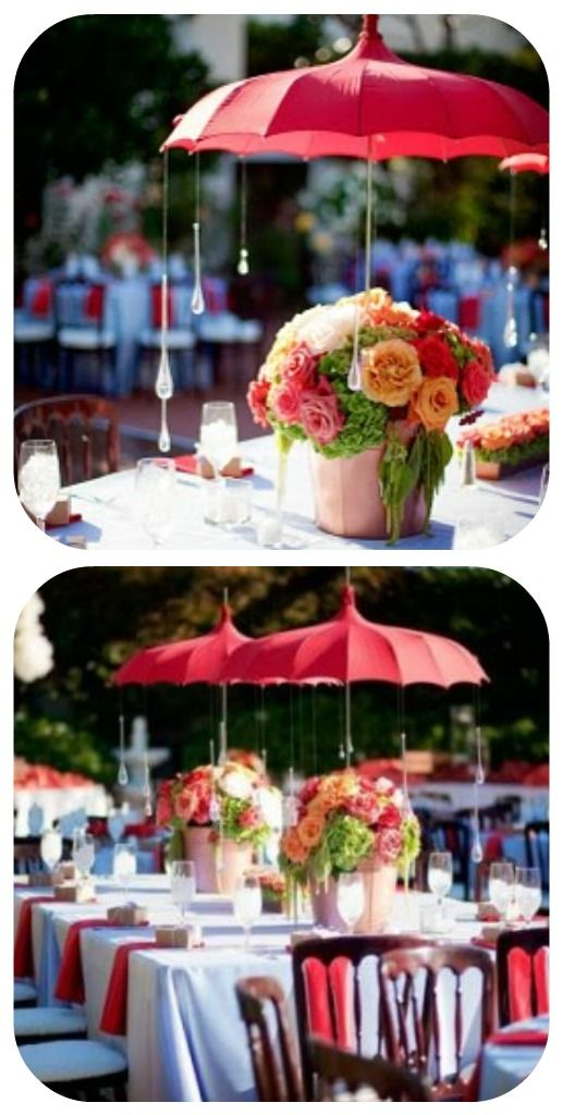 Umbrellas red umbrella and centerpiece on pinterest