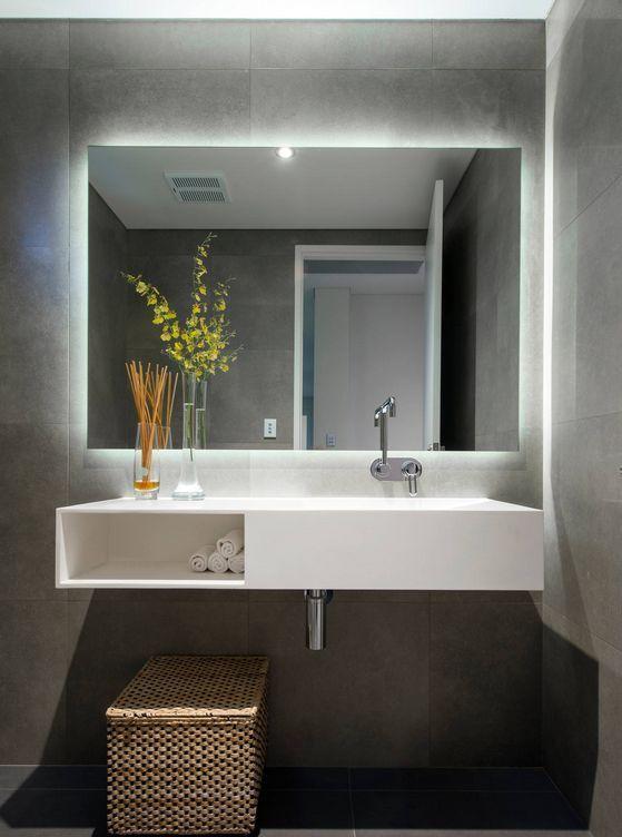 Twilight Rectangle Bathroom Mirror With Led Light Backing Backlit Tg Twiligh In 2020 Moderne Badezimmerspiegel Badezimmer Innenausstattung Badezimmer Spiegelschrank