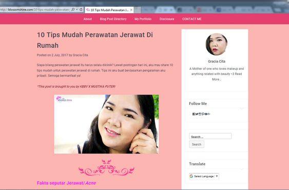 Must read: 10 Tips Mudah Perawatan Jerawat Di Rumah (Click the picture!)