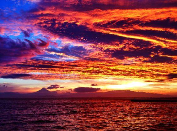 Beautiful sunset!! Enoshima, Japan