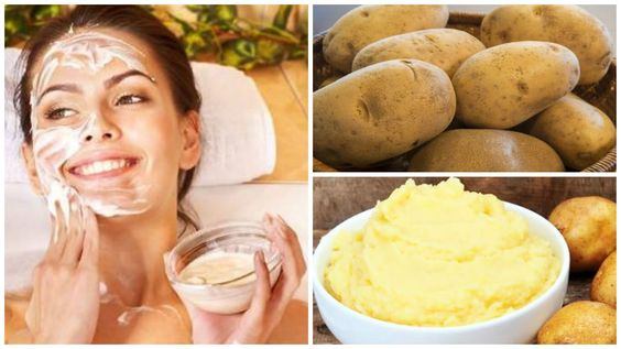 With this homemade potato cream in 3 nights the spots of the face, acne and dark circles are erased