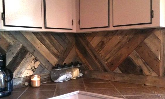 stunning pallet wall designs diagonal backsplash
