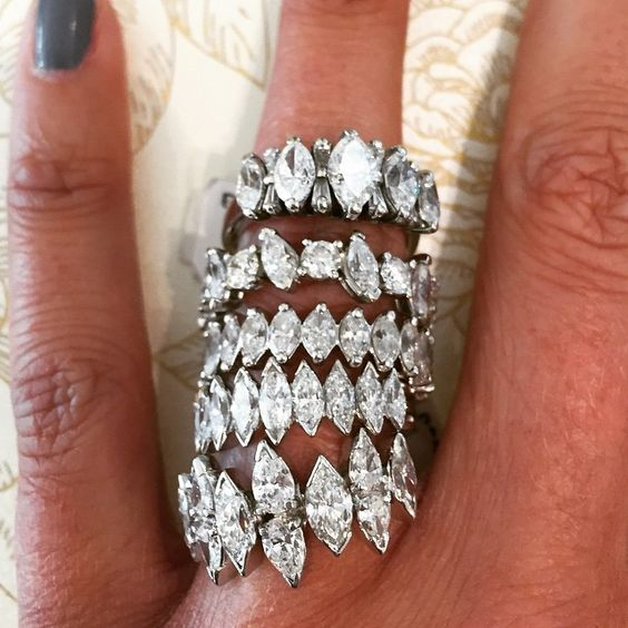hlgrossjewelers: Estate Eternity Bands. Shop these and many more at our #SpringCleaning sale this weekend! #vintagegirl #marquise #baguettes #EstateJewelry #TGIF #VintageBride #eternitybands #diamonds #ringstack #vintagestyle #bridal #giftsforher #antiquejewelry #somethingold #MayDay