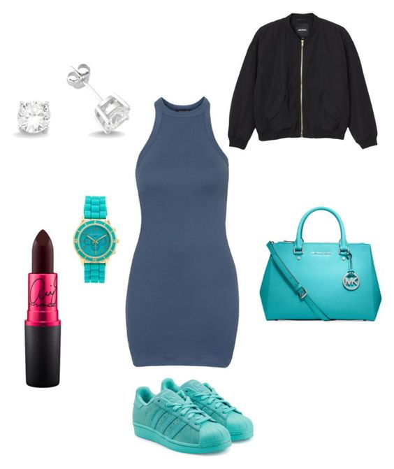 """Untitled #291"" by meaning-of-rap on Polyvore featuring Topshop, adidas Originals, Aéropostale, Amorium, MICHAEL Michael Kors, Monki, women's clothing, women, female and woman"