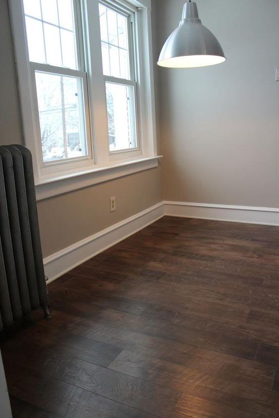 Vinyls cabinets and countertops on pinterest for Dark wood linoleum flooring