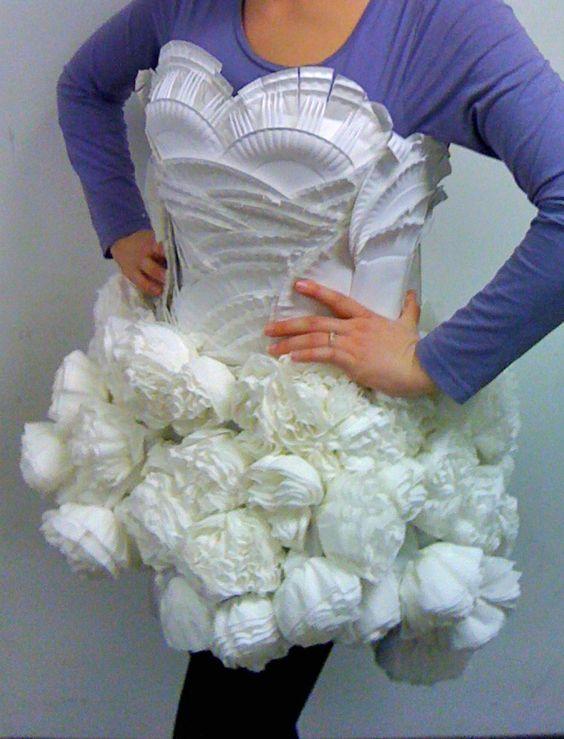 paper plate/napkin/fork dress