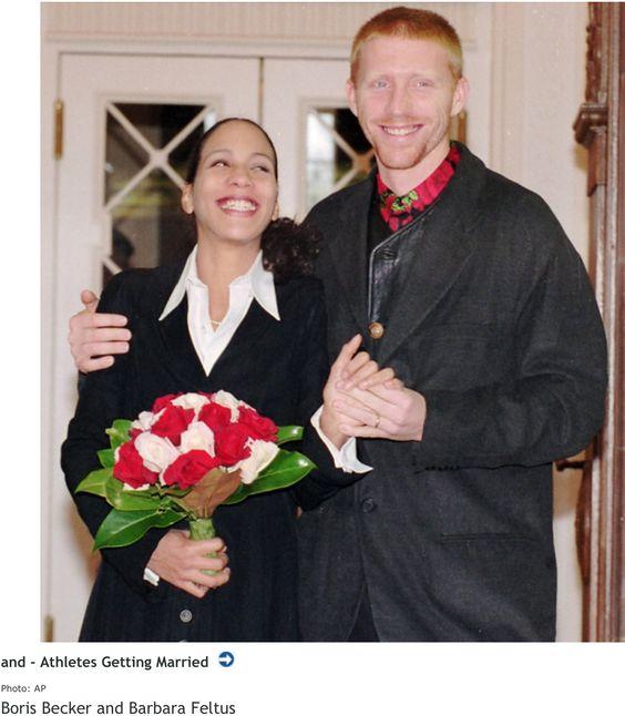 boris becker and barbara feltus married in 1993 celebrity weddings pinterest. Black Bedroom Furniture Sets. Home Design Ideas