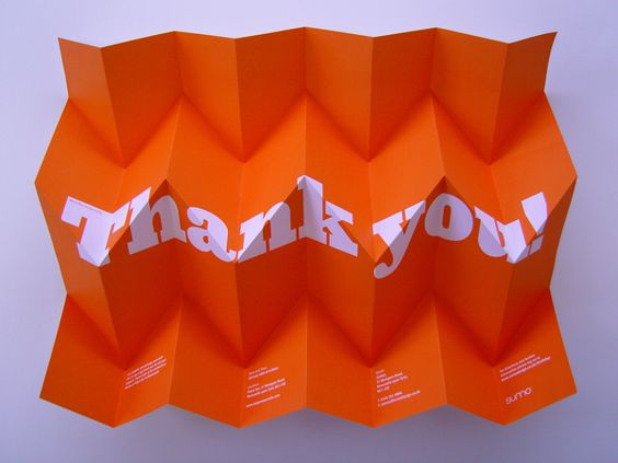 Thank you! by Sumo , via Behance