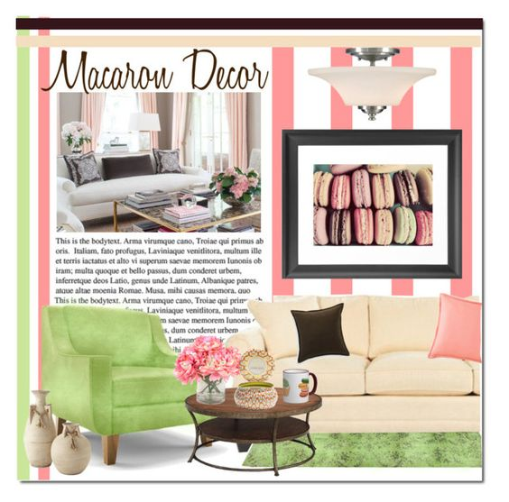 Macaron Decor by s866422b on Polyvore featuring polyvore interior interiors interior design home home decor interior decorating Joybird Furniture JCPenney Home INC International Concepts Crate and Barrel Voluspa