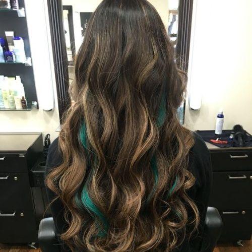 60 Peekaboo Haircuts Ideas In 2020 Peekaboo Hair Dark Hair With Highlights Blonde Brown Hair Color
