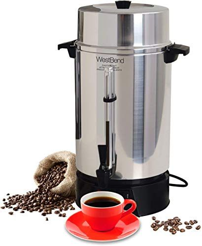 Buy West Bend 33600 Highly Polished Aluminum Commercial Coffee Urn Features Automatic Temperature Control Large Capacity Quick Brewing Smooth Prep Easy Clean Up In 2020 With Images Coffee Urn West Bend Coffee Maker