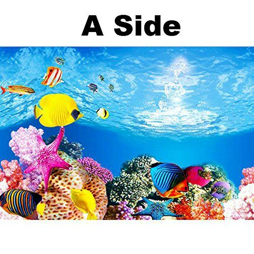 Double Sided Aquarium Background Poster Decoration Fish Tank Wall Background Picture Ocean Fish Aquarium Decor 1 Fish Tank Wall Aquarium Accessories Fish Tank