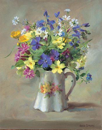 Ann Cotterill   OIL                               Wild Flowers in a Victorian Jug: