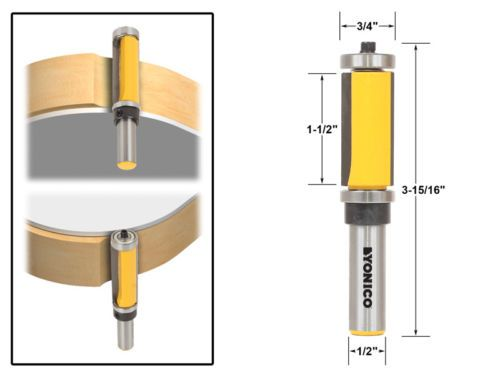 Router Bits 177001 1 1 2 Flush Trim Top And Bottom Bearing Router
