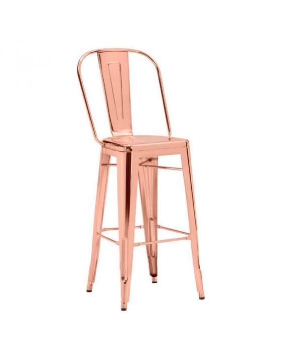Helio Bar Chair   Rose Gold