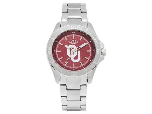 Oklahoma Sooners Women's Team Color Dial Sport Bracelet Watch