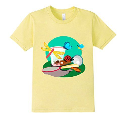"Kids Les P'tits Explorateurs ""Bug Catcher"" t-shirt color : Lemon. American Apparel t-shirt made of 100 percent fine ring-spun combed cotton, this lightweight fine jersey is exceptionally smooth and tight-knit. http://www.amazon.com/dp/B01D3VA61A/ref=cm_sw_r_pi_dp_5NZlxb1SZKJ5M"