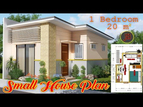 Small House Design 20 Sq M With 1 Bedroom House Design Idea Youtube House Design Small House Design 1 Bedroom House Simple small house design 1 bedroom