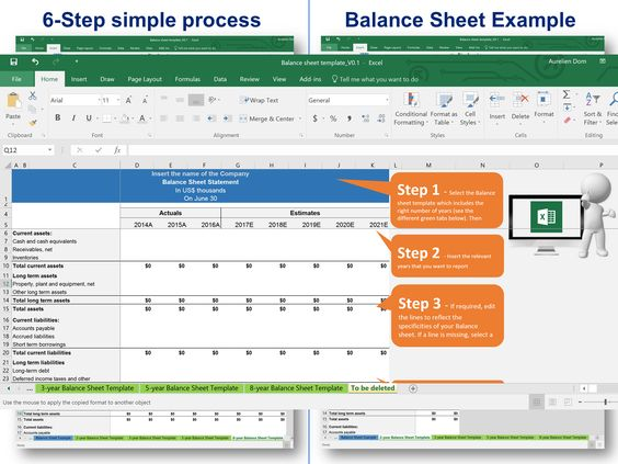 Balance sheet template for small business Simple Balance Sheet