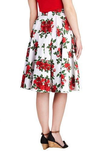 Roses Are Radiant Skirt, #ModCloth