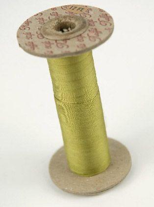 olive green chinois silk ribbon