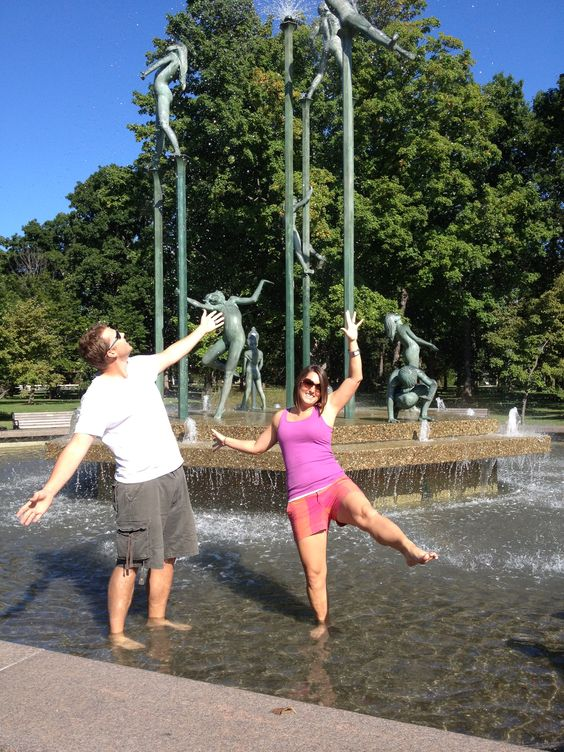 17 - Splash in the fountain at Riverside Park. 200 points. #FoxCities #Appleton #Wisconsin