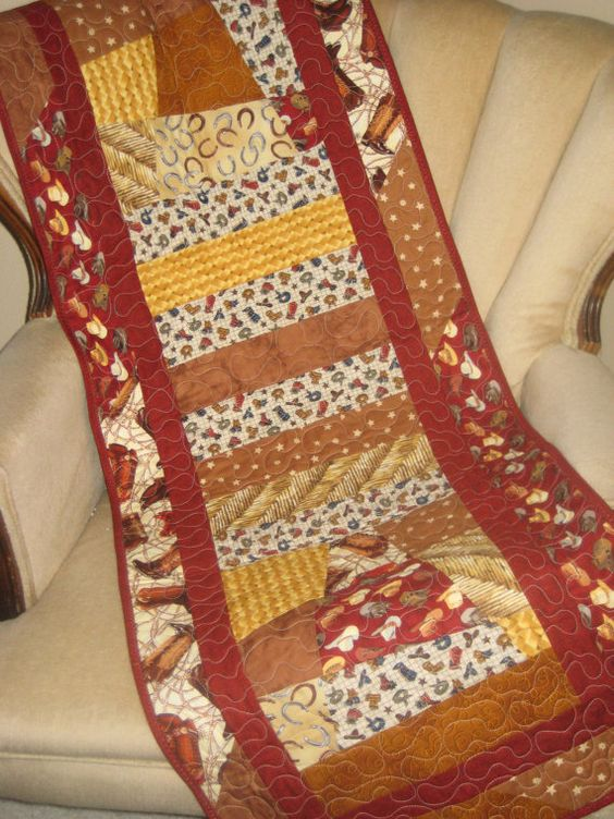 Western Theme Table Runner Cowboy Hats by DesignsbyJuliAnn on Etsy, $55.00