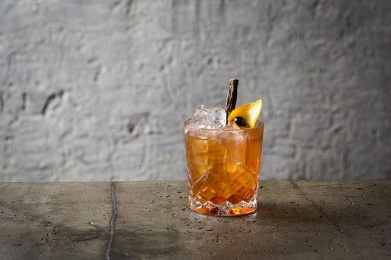 """""""Smoky Birch Sap Old Fashioned."""" Michter's Bourbon, birch sap, bitters & a suggestion of smoky Ardbeg Corryvreckan single malt whisky are slowly stirred together & served over ice."""