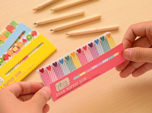 180pages-CUTE-Slim-Sticker-Paste-Bookmark-Mark-Memo-Sticky-Notes-MIXED-PATTERN