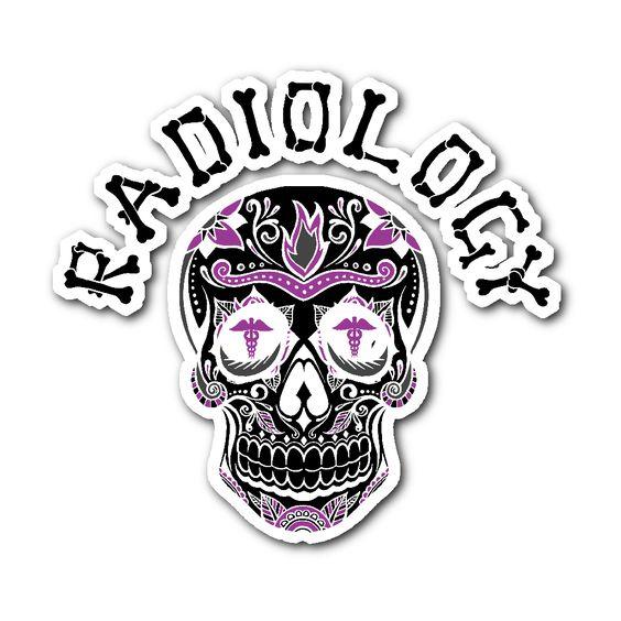 Radiology Skull Sticker   Popular, Friends family and Tees Skull X Ray Views Chart