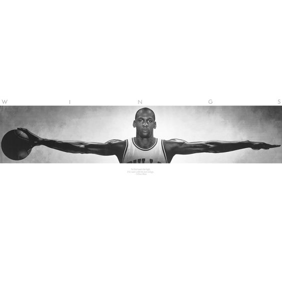 "Amazon.com: Michael Jordan Wings - Life Size Wall Poster (21"" x 62""): Home"