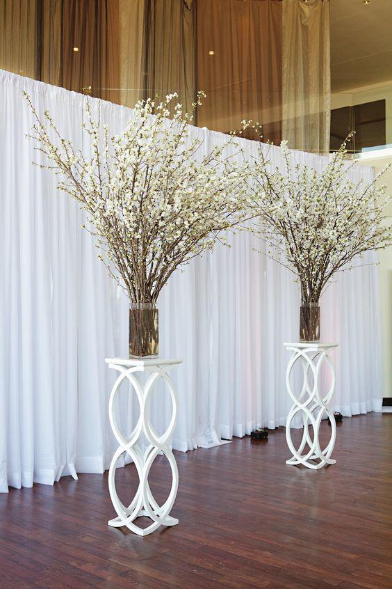 Modern Chic Boston Wedding Wedding Cherry Blossoms And