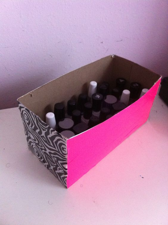 Image result for tissue box as nail polish box