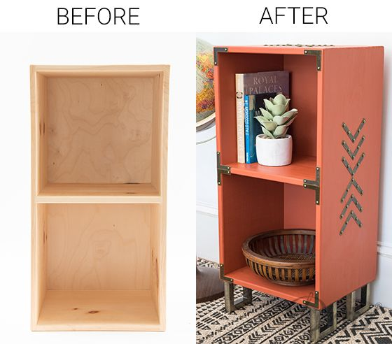 Diy Makeover Transform A Raw Wood Cubby Shelf With Dritz Campaign Hardware Wood Cubby Shelf Makeover Cubby Shelves Decor