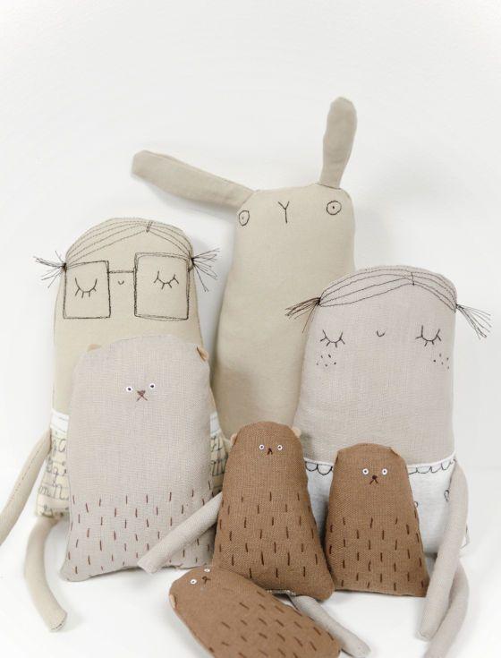 ♥ Handgemachte Puppen und Stofftiere