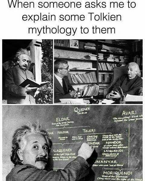 Genius #genius #truestory #funny #memes #alberteinstein #lordoftherings #lotr #thehobbit #tolkien #jrrtolkien