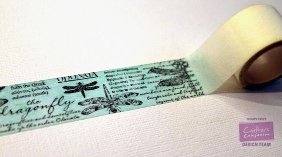 paper, ink and smiles: Dragonfly Washi Tape